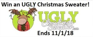 It's UGLY CHRISTMAS SWEATER Giveaway Time!