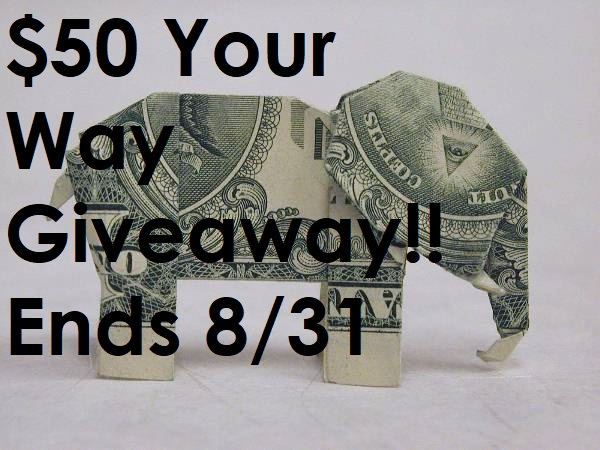 August 2019 $50 Your Way Giveaway!! #giveaway #paypal #GC