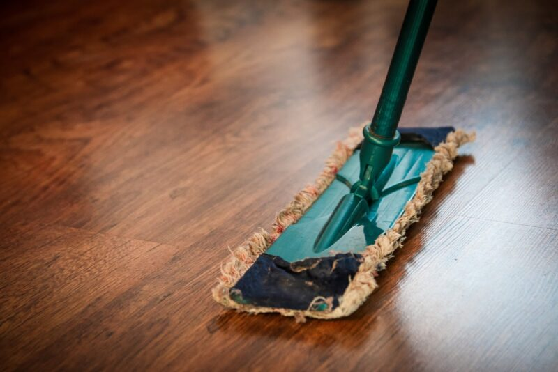 Mop wood flooring